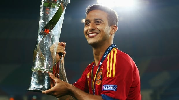 Thiago Alcantara, one of Spain's top footballers, will miss the Brazil World Cup with a knee injury.
