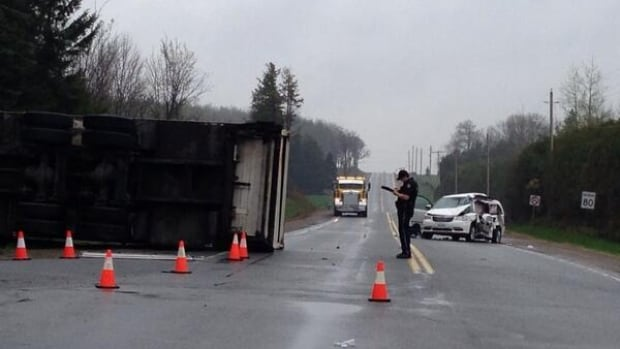 A collision near Caledon Village sent six people to hospital on Thursday morning.