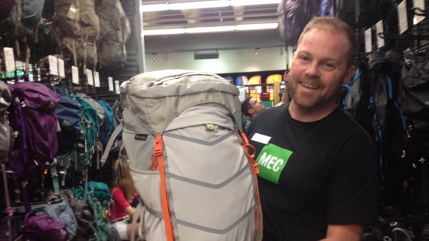 Matt Armstrong with Mountain Equipment Co-op shows off a pack well suited to a multi-day trip into B.C.'s backcountry.