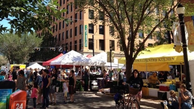 The downtown City Market will return to 104th Street this weekend.