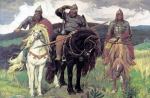 Ilya Muromets in the painting Bogatyrs