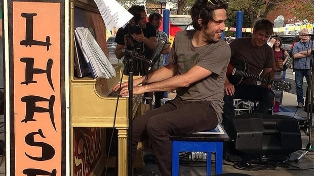 Patrick Watson performed at the Lhasa de Sela dedication ceremony on Thursday evening.