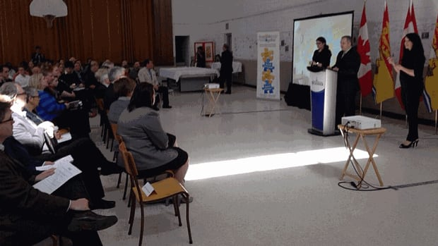 The new poverty reduction plan, entitled Overcoming Poverty Together, was unveiled in Fredericton on Friday.