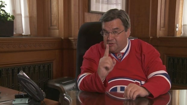 Montreal Mayor Denis Coderre, above, came out on top in the wager with Boston Mayor Marty Walsh after the Habs took the series in seven games. Now he's looking to take on New York Mayor Bill de Blasio.
