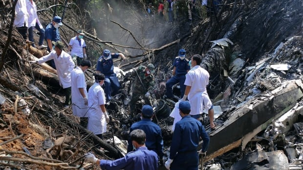 The plane crashed near Nadee village in Xiangkhoung province in the north of Laos.