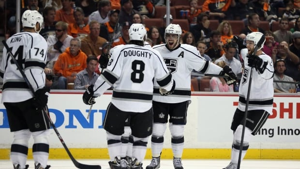 The Kings defeated Anaheim in Game 7 of their second-round series on Friday night.