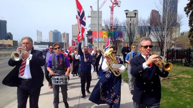 Norwegians in Calgary celebrated the bicentenary of their country's constitution Saturday. Norway's constitution is the oldest still in force in Europe.