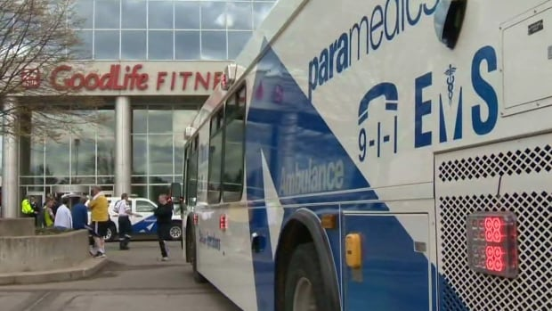 Toronto EMS treated 22 people after they were exposed to noxious fumes at an Etobicoke Goodlife Fitness facility.