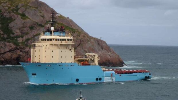The offshore supply vessel Maersk Dispatcher is shown entering The Narrows in St. John's Harbour in this file photo.