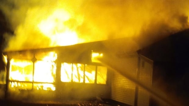 Fire destroyed Milford House near Annapolis Royal early Sunday morning.