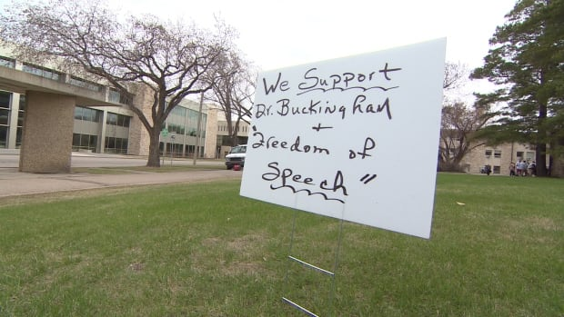 A sign outside of the University of Saskatchewan on May 16, 2014.