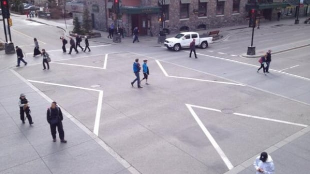 Banff has opened scramble intersections to help improve the flow of people and vehicles.