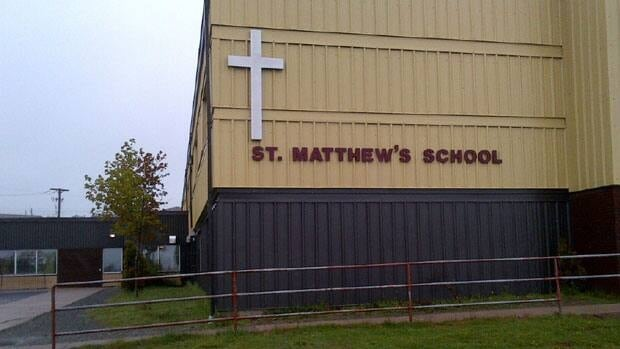 The cross on St. Matthew's Elementary was taken down in May last year, after the province's English school board received a parent complaint.