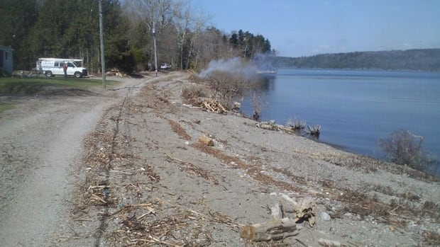 Beach Road, which is in Saint John's north end, was damaged several weeks ago in a storm. Residents are waiting for the road to be fixed.