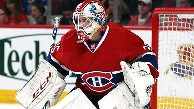 Dustin Tokarski has been pressed into action in the Eastern Conference final after an injury to Carey Price.