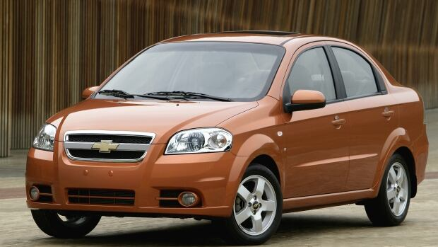 The 2007 Chevrolet Aveo is being recalled by GM because of a daytime running light module that can overheat, melt and catch fire.