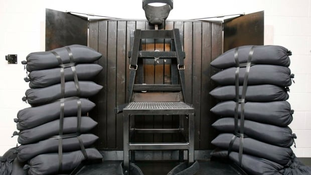 A firing squad execution chamber at the Utah State Prison in Draper, Utah, another state that may consider a return to firing squads for civilian executions.