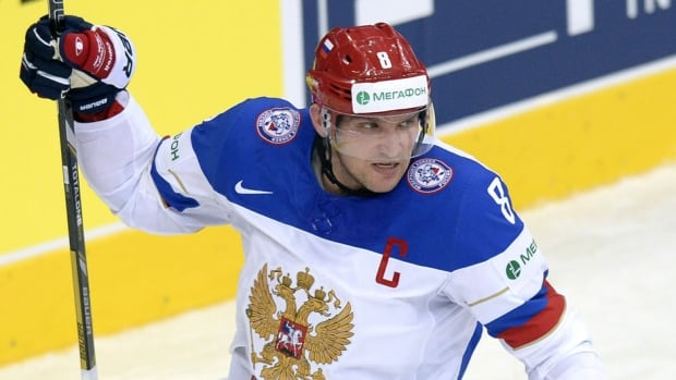 Forward Alexander Ovechkin will return to Russia's lineup for Thursday's quarter-final matchup against France at the world hockey championship. He missed the final group match against Belarus on Tuesday after injuring his right leg in an on-ice collision.