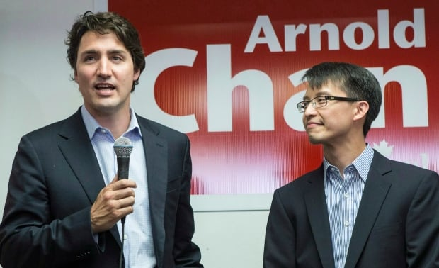 Justin Trudeau and Arnold Chan