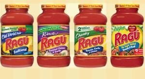 Ragu and Bertoli sauce