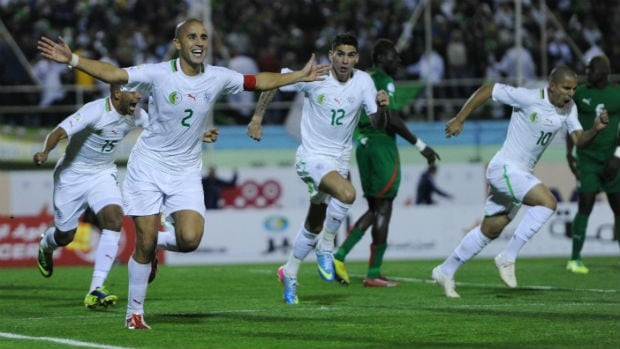Madjid Bougherra, left, is s Algeria's captain and rock on the back line.