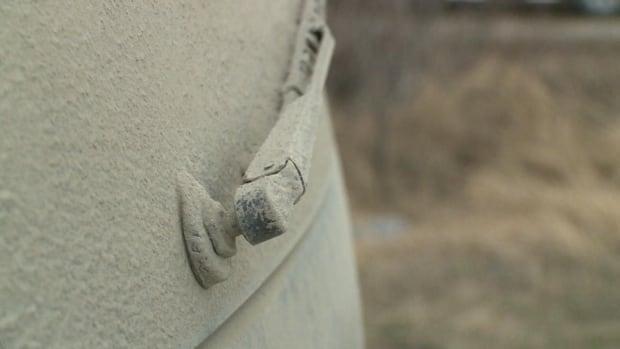 dust buildup on Cartwright vehicle