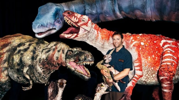 Interact with Erth's Dinosaurs at the Surrey International Children's Festival.