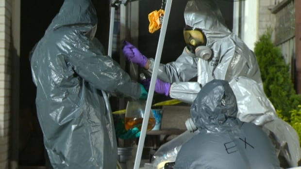 Two people are in custody following a raid on a meth lab in Pickering.