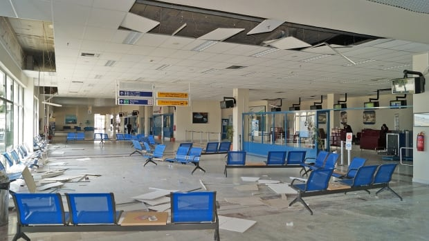 A British tourist was injured at the Ifestos airport in northeastern Greece when an earthquake Saturday caused pieces of the ceiling to come crashing down.