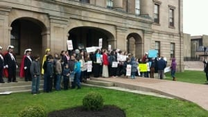 Children at anti-abortion rally in Charlottetown
