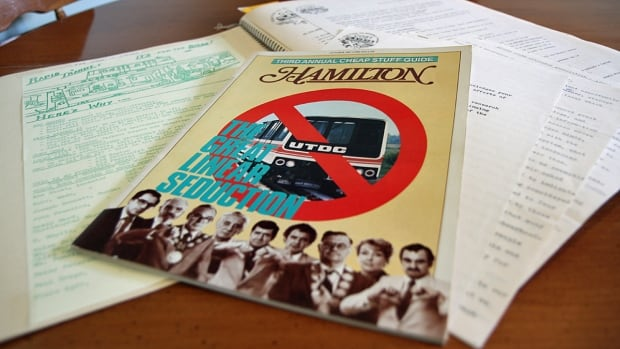 Mountain resident Lorna Kippen keeps a scrapbook of mementos from her time as chair of the Coalition on Sane Transit, a citizens' group that rallied in 1981 against a elevated train line that had been planned for Hamilton.