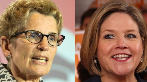 A record number of female candidates are running in the Ontario election this year, including two women vying for the premier's office.