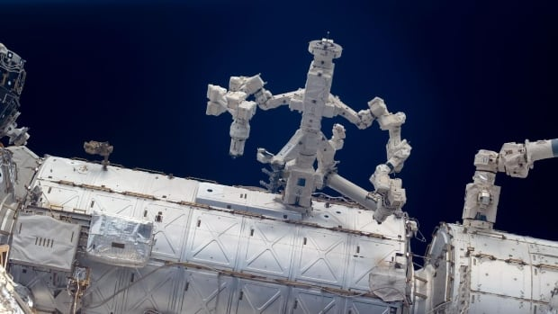 The Canadian robot Dextre has arms more than three metres in length and can attach power tools as fingers. It was sent to the space station in 2008, and is now doing a lot of jobs that were previously done by spacewalking astronauts.