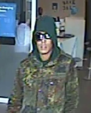 Alternate new image of so-called 'Mummy Bandit' bank robbery suspect