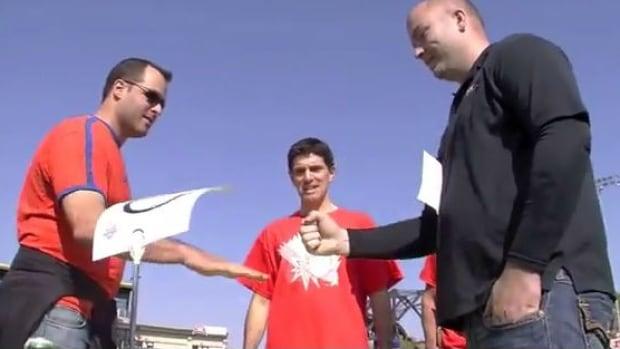 Handemonium is a Rock Paper Scissors tournament that raised money for Cancercare Manitoba.