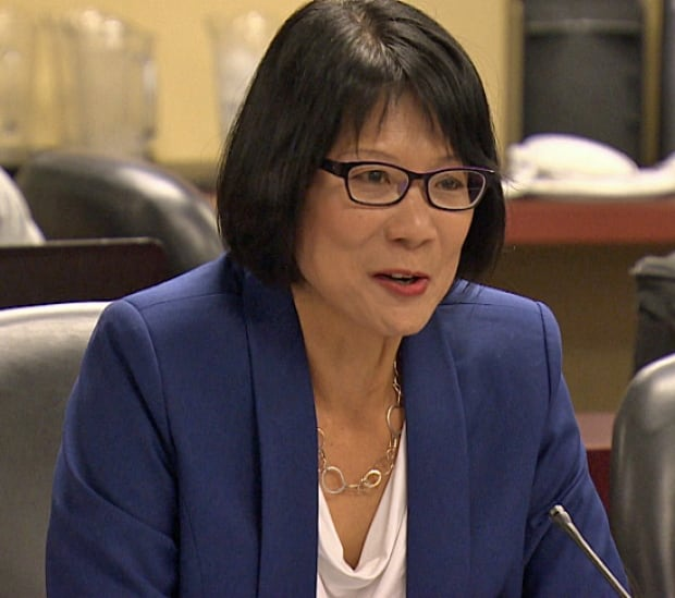 Olivia Chow at mayoral roundtable discussion