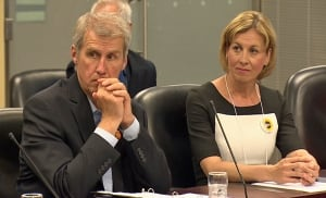 David Soknacki and Karen Stintz