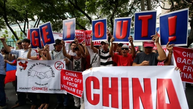 Protests by Vietnamese and Filipinos, including this one earlier this month, have sprung up since China began constructing an oil rig near a group of islands and shoals in the South China Sea.