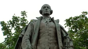 Edward Cornwallis's statue was erected in the 1930s.