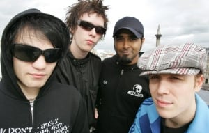 Sum 41 band members pose for photo in London, Ont., in 2004