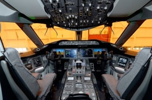 Air Canada Boeing 787 Dreamliner flight deck