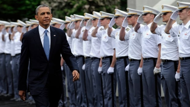 U.S. President Barack Obama told the U.S. Military Academy at West Point's 2014 graduating class that America is the world's most indispensable nation.