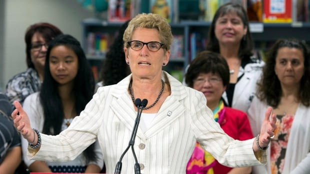 Liberal Leader Kathleen Wynne says her main focus winning the most seats in the Ontario election, not thinking about a coalition. But she wouldn't rule out a deal with the NDP should the PCs score a minority win.