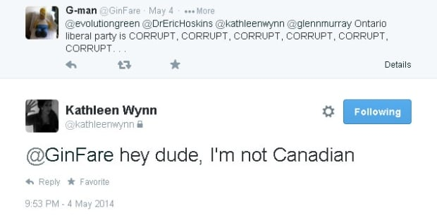 Kathleen Wynn is not Canadian