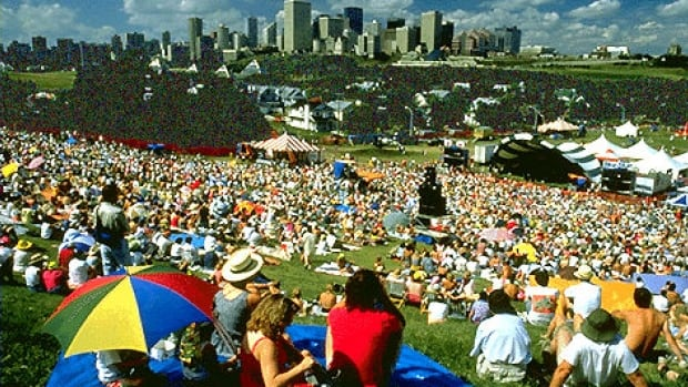 The Edmonton Folk Music Festival happens every August in Gallagher Park.