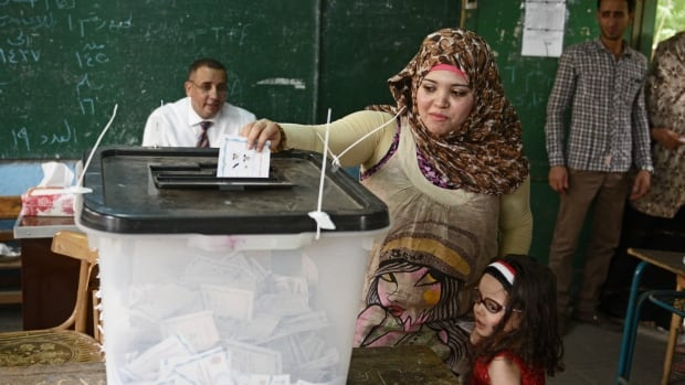 Turnout was about 46 per cent of Egypt's voters, compared to 52