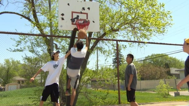 Wednesday night basketball games are more fun now that youngsters have spruced up the courts at Sheldon-Williams High School.