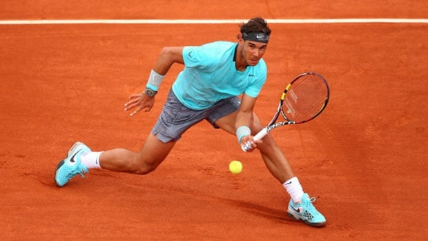 No. 1 Rafael Nadal of Spain defeated Dominic Thiem of Austria in straight sets at the French Open Thursday in Paris.
