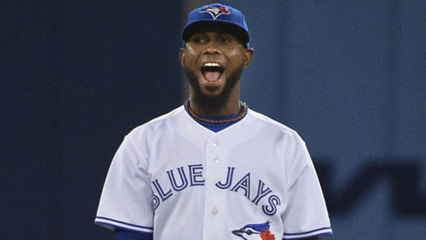 A three-time all-star shortstop Jose Reyes is a big reason why the Toronto Blue Jays have moved to the top of the American League East division standings.