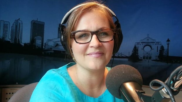 Marcy Markusa, CBC Information Radio host, is all smiles with the latest BBM ratings.